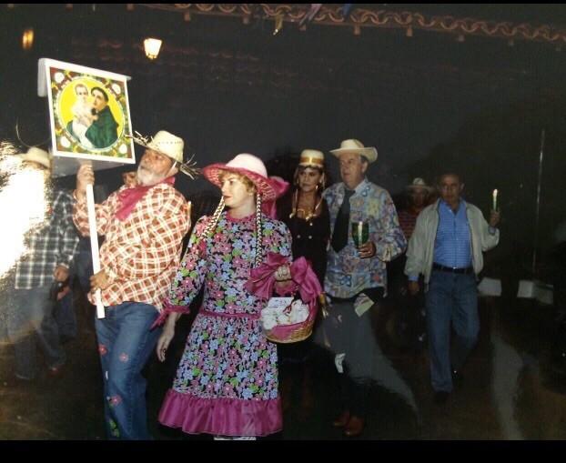festa junina - Lula, Dona Marisa e Bumlai (Foto: Reprodução)