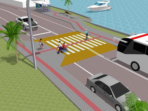 Projeto de revitalização da Avenida das Rendeiras em Florianópolis (Foto: Prefeitura de Florianópolis)