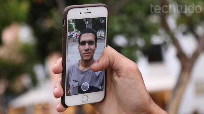 Chamada e conversa ao vivo no Snapchat (Foto: TechTudo / Lucas Mendes)