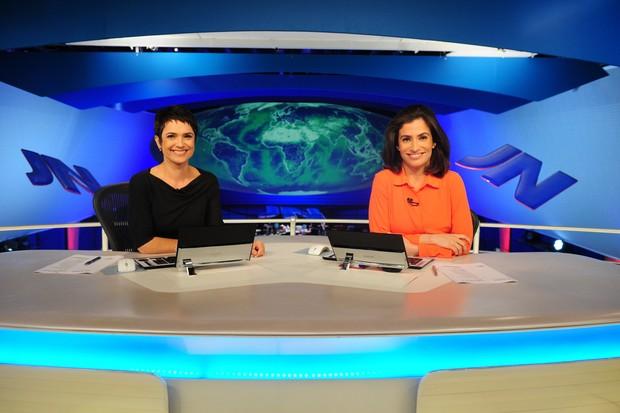 Sandra Annenberg vai substituir Renata Vasconcellos no Jornal Nacional durante as férias (Foto: Globo/João Cotta)