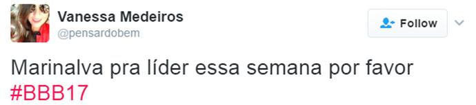 Tweet Marinalva e Luiz Felipe (Foto: Reprodução da Internet)