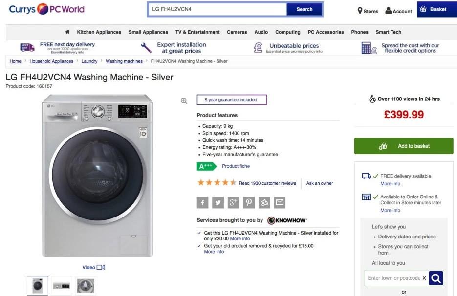 Site onde a consumidora fez a 'desinibida' avaliação