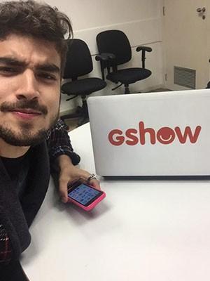 Caio fez selfie antes de começar a participação nas redes sociais (Foto: Arquivo Pessoal)