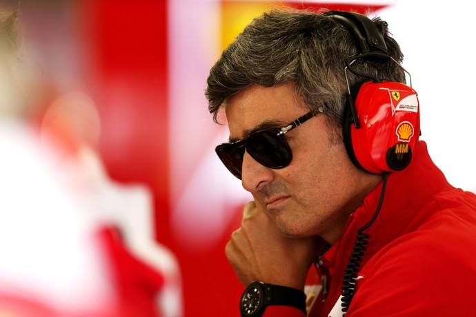 Marco Mattiacci, novo chefe da Ferrari, no primeiro treino livre para o GP da China (Foto: Getty Images)