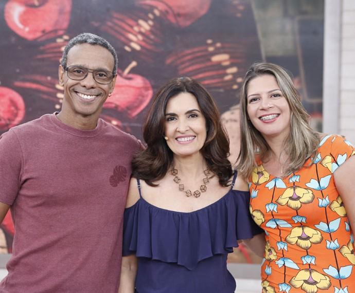 Atores dubladores que participaram do programa com a Fátima  (Foto: Ellen Soares/Gshow)