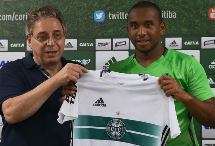 Anderson apresentado Coritiba (Foto: Reprodução/RPC)