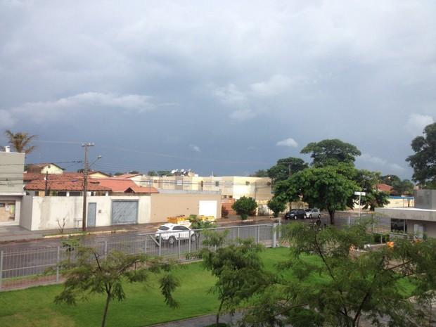 Clima em Campo Grande nesta sexta-feira (1º) (Foto: Hélder Rafael/G1 MS)