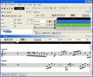 Frinika, edição de áudio