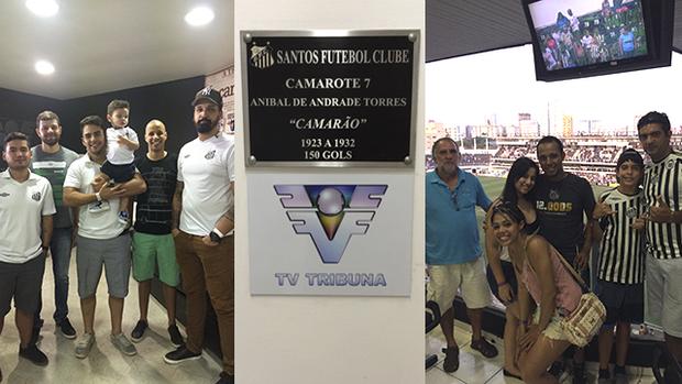 TV Tribuna leva clientes e agências para dentro da casa do Santos FC (João Alfredo M. Rodrigues)
