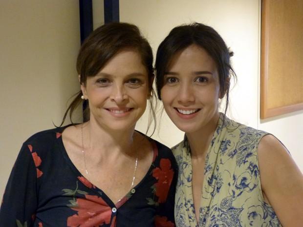 Encontro de gigantes: Drica Moraes e Marjorie Estiano  (Foto: Império/TV Globo)