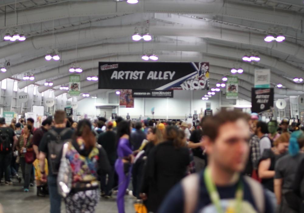 Muitos quadrinistas brasileiros estiveram presentes no Artists Alley da NYCC  (Foto: Syfy)