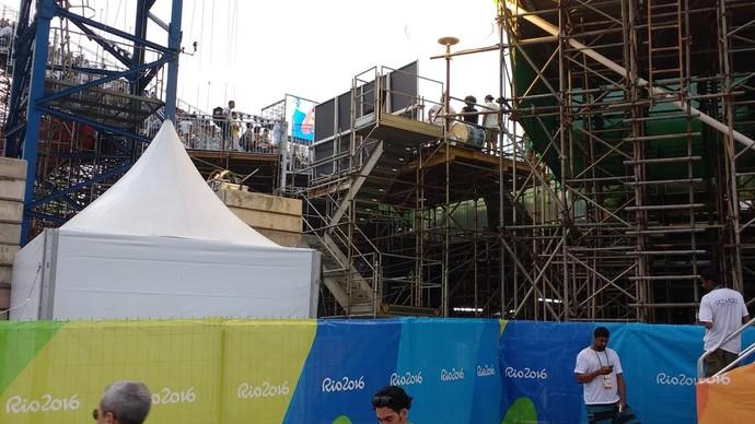 Vista da Arena de Copacabana que  grupo que ficou sem ingresso tinha (Foto: Martha Esteves/ Globoesporte.com)