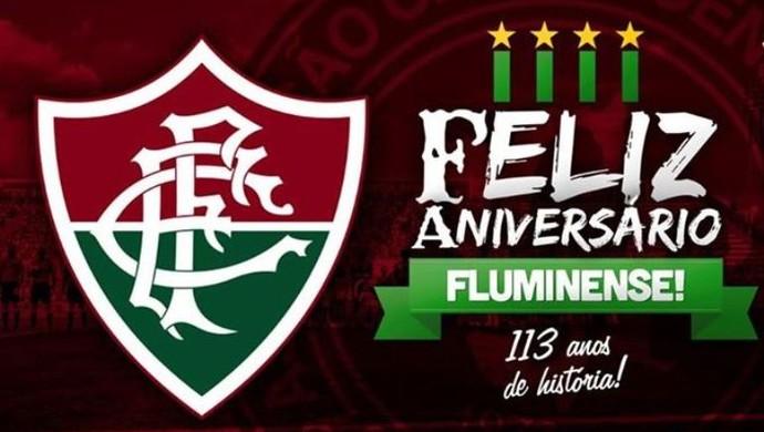 Chapecoense Fluminense aniversário (Foto: Reprodução)