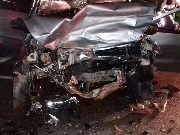 Colisão frontal resulta em duas mortes na BR-135 (Foto: Divulgação/PRF-MA)