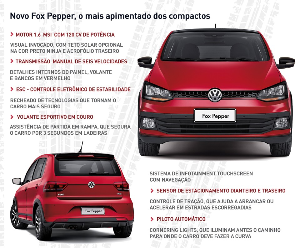 Publieditorial  Volkswagen Novo Fox Pepper informações (Foto  Volkswagen) 331bf640f5