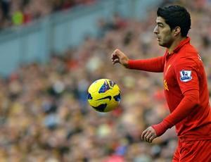 suarez Liverpool x Wigan (Foto: AFP)