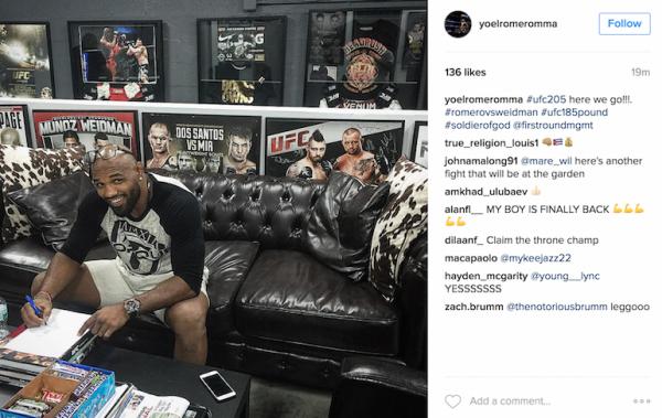 BLOG: Romero faz post confirmando luta com Weidman em NY, mas depois apaga
