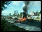 Manifestantes interditam a BR-101 em Sooretama, ES