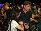 Fábio Assunção e Carol Macedo chegam juntos no Rock in Rio