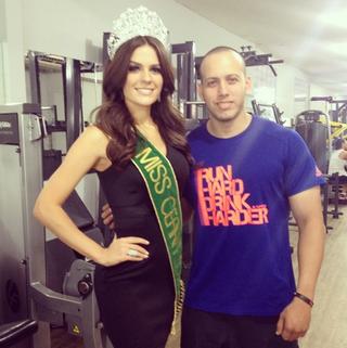 Melissa Gurgel e o personal trainer Mardoque Prado (Foto: Reprodução/Instagram)