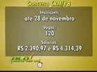 CRM da Paraíba encerra inscrição em concurso público nesta segunda-feira