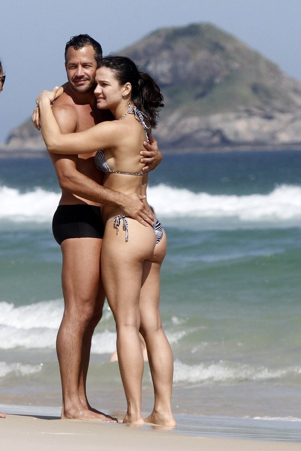 Malvino Salvador e Kyra Gracie (Foto: Marcos Ferreira e Johnson Parraguez / Photo Rio News)