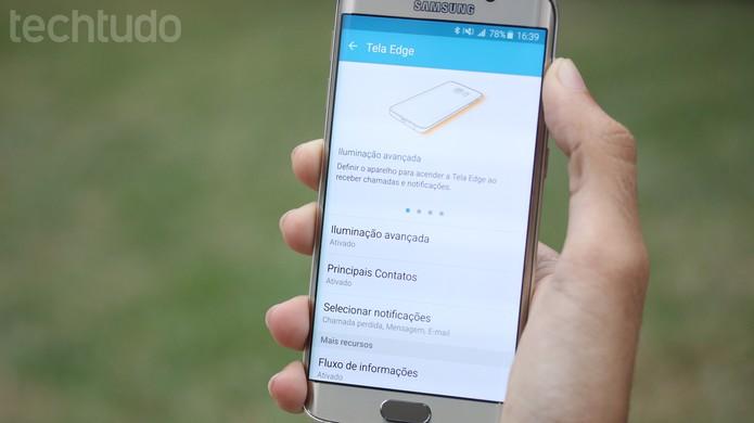 Configure o seu Galaxy S6 Edge do seu jeito (Foto: Lucas Mendes/TechTudo)
