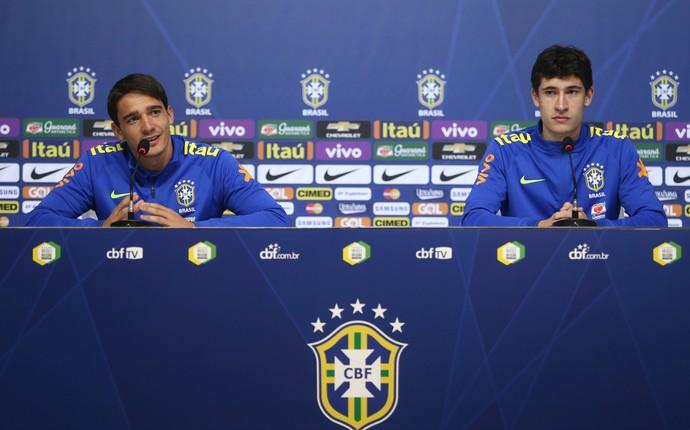 Uilson e Rodrigo Dourado entrevista coletiva seleção brasileira olímpica (Foto: Lucas Figueiredo/MoWA Press)
