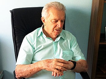 Carlos Orione, presidente da Federação Mato-grossense de Futebol (Foto: Robson Boamorte/GloboEsporte.com)