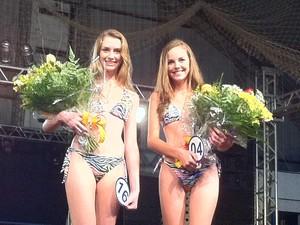 Letícia Klein e Natália Luft são as escolhidas para a final do Garota Verão (Foto: Roberta Lemes/ G1)