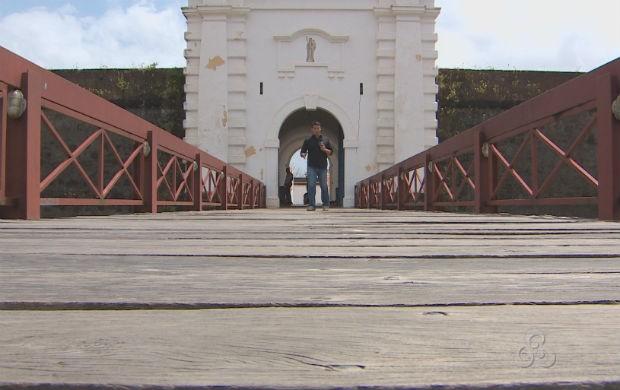 Entrada da Fortaleza de São José de Macapá (Foto: Reprodução/TV Amapá)