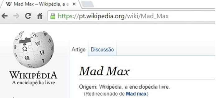 Wikipédia em português já é acessada por HTTPS (Foto: Reprodução/Wikipédia)