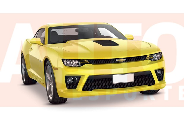 Projeção-Chevrolet-Camaro-frente (Foto: Renato Aspromonte/Autoesporte)