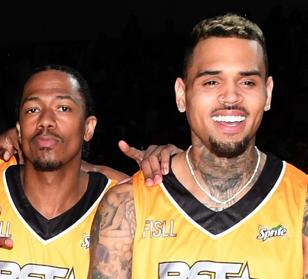 Nick Cannon e Chris Brown (Foto: Getty Images)