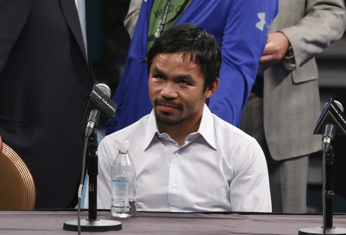 Manny Pacquiao coletiva pós luta Mayweather (Foto: Evelyn Rodrigues)