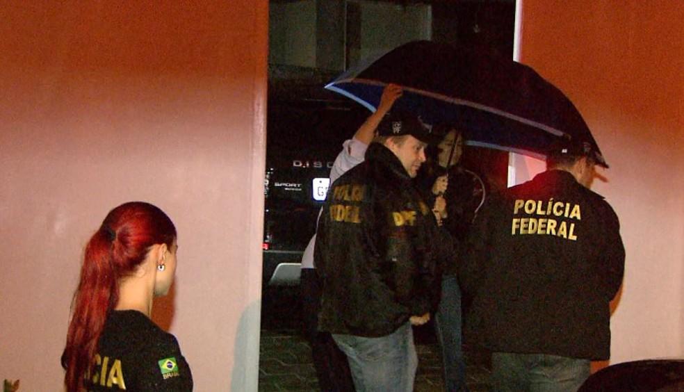 Dárcy Vera, ex-prefeita de Ribeirão Preto, presa pela Polícia Federal (Foto: Paulo Souza/EPTV)