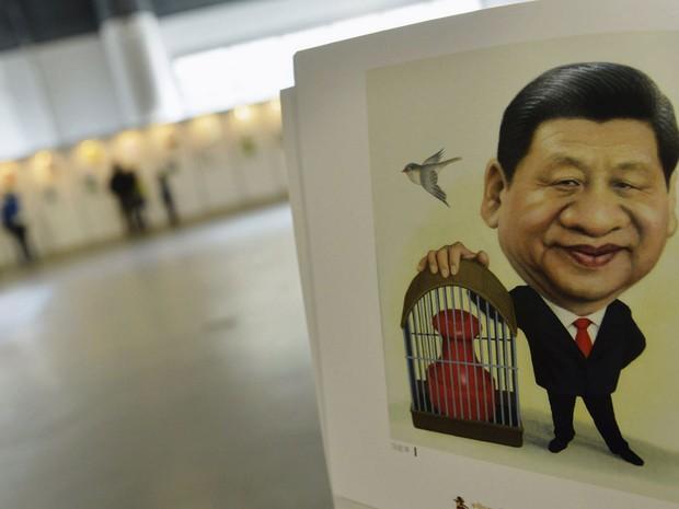 Desenho mostra o atual presidente chinês, Xi Jingping (Foto: Stringer/Reuters)