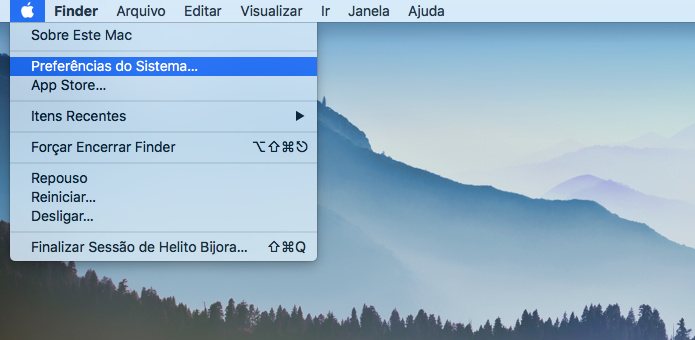 Abra as configurações do Mac (Foto: Reprodução/Helito Bijora)