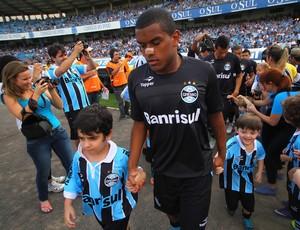 fernando grêmio figueirense olímpico novo uniforme black (Foto: Lucas Uebel/Grêmio FBPA)
