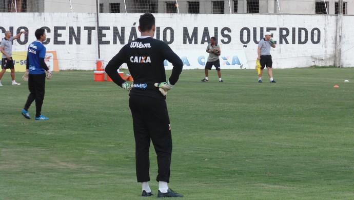 Saulo - goleiro do ABC (Foto: Carlos Cruz/GloboEsporte.com)