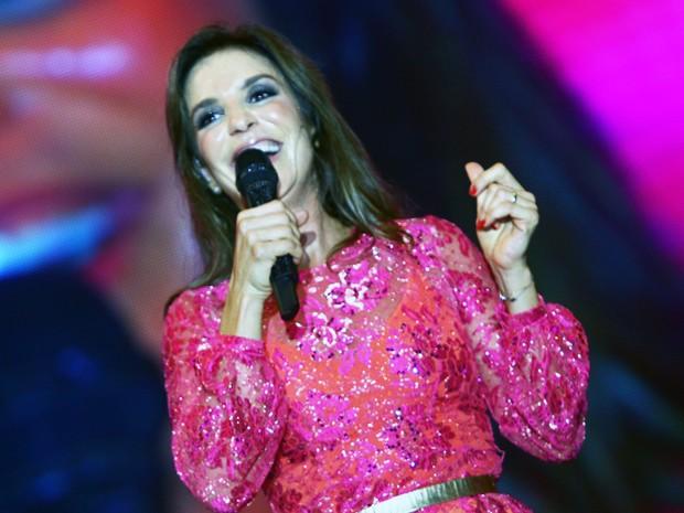 Ivete Sangalo no palco do Mineirão (Foto: Maurício Vieira/G1)