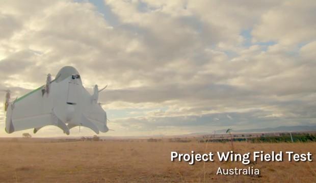 Google realizou testes de entrega com drones na Austrália (Foto: Reprodução/YouTube/Google)