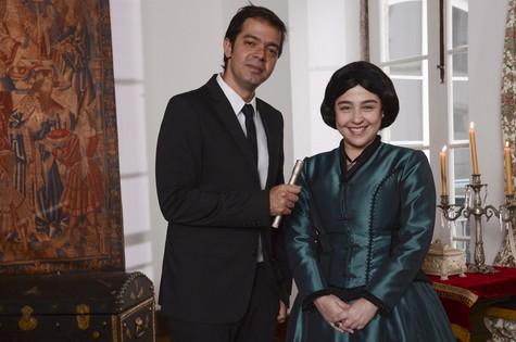 Bruno Mazzeo e Débora Lamm (Foto: Raphael Dias/TV Globo)