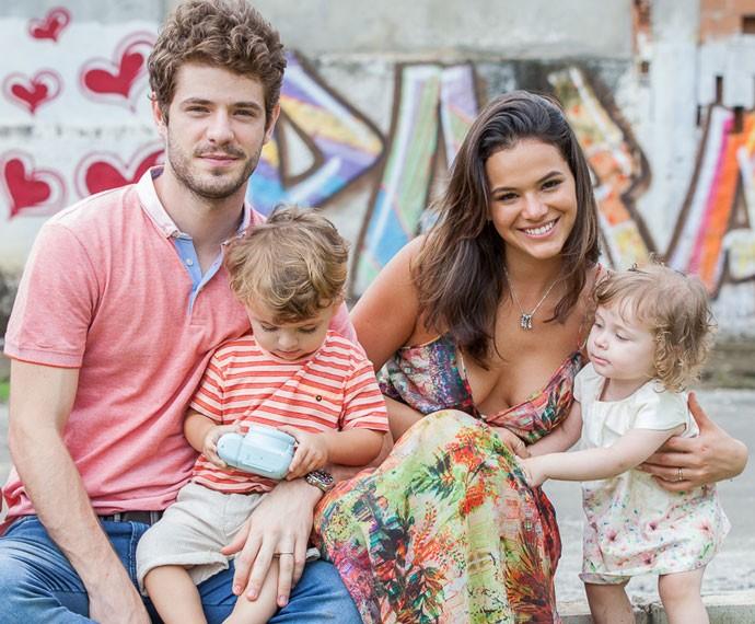 Que família linda!!! (Foto: Artur Meninea/Gshow)