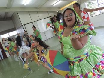 Aluna Priscila Souza esbanja charme (Foto: Luna Markman/ G1)