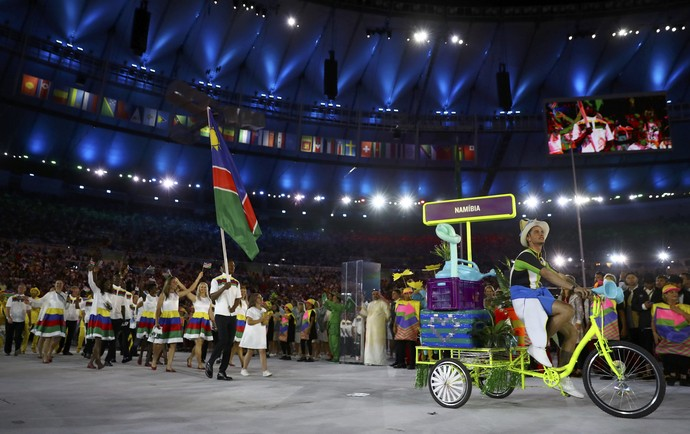 Jonas Junias boxe namíbia olimpíada rio 2016 (Foto:  REUTERS/Kai Pfaffenbach)