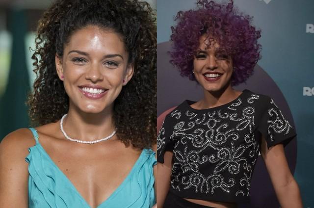 Kizi Vaz em 'Babilônia' e em 'Rock story' (Foto: Estevam Avellar e Mauricio Fidaldo/ TV Globo)