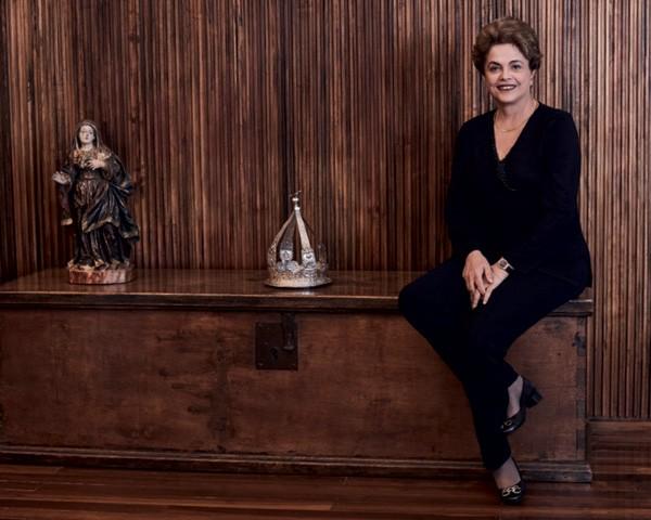 Dilma Rousseff no Palácio da Alvorada (Foto: Bob Wolfenson)