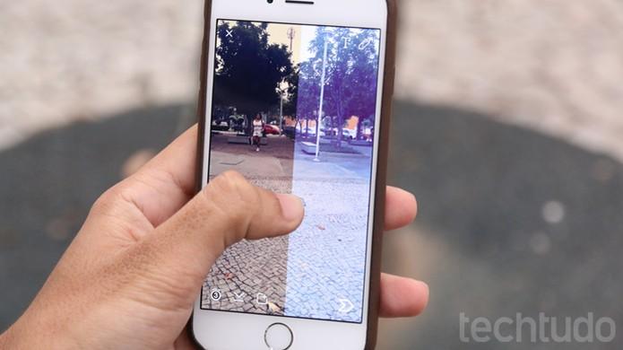 Filtros no Snapchat (Foto: TechTudo / Lucas Mendes)