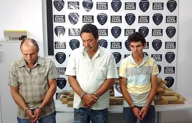 Entre suspeitos, proprietário da droga é foragido do Mato Grosso desde 2014 (Foto: Divulgação / Senarc)